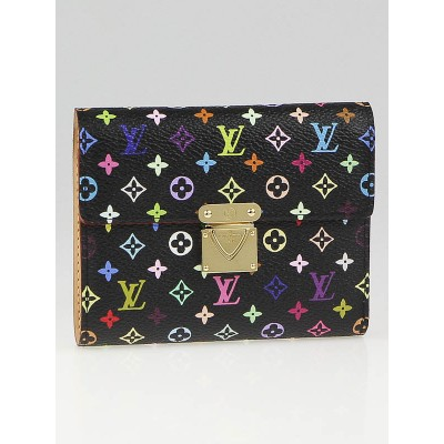 Louis Vuitton Black Monogram Multicolore Koala Wallet