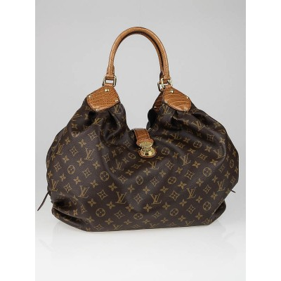 Louis Vuitton Limited Edition Alligator Trim Monogram Canvas XL Bag