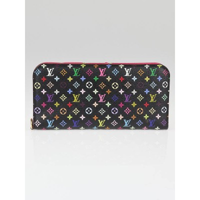 Louis Vuitton Black Monogram Multicolore Insolite Wallet
