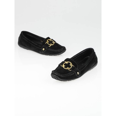Louis Vuitton Black Suede Driving Loafers Size 5.5/36