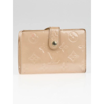 Louis Vuitton Beige Monogram Vernis French Wallet