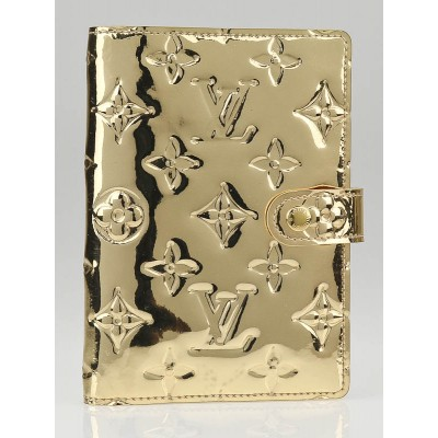 Louis Vuitton Limited Edition Gold Monogram Miroir Small Agenda/Notebook Cover