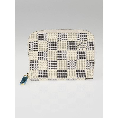 Louis Vuitton Damier Azur Canvas Zippy Small Coin Purse