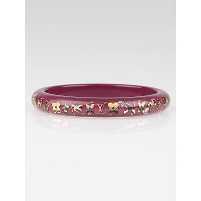 Louis Vuitton Purple Monogram Resin Inclusion TPM Bracelet