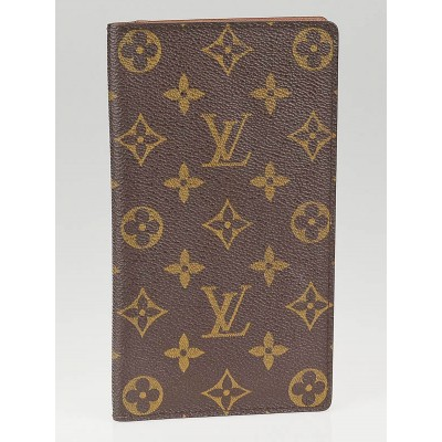 Louis Vuitton Monogram Canvas European Checkbook Wallet