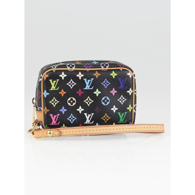Louis Vuitton Black Monogram Multicolore Canvas Wapity Case