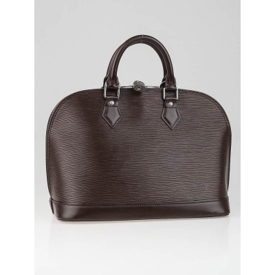 Louis Vuitton Moka Epi Leather Alma PM Bag