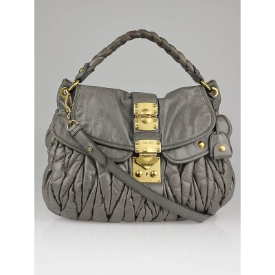 Miu Miu Astro Matelasse Lux Nappa Leather Coffer Hobo Bag
