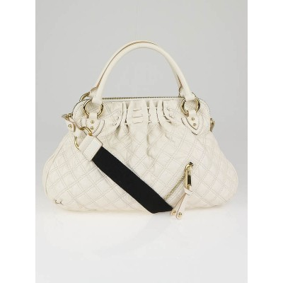 Marc Jacobs Latte Quilted Leather Large Cecilia Bag