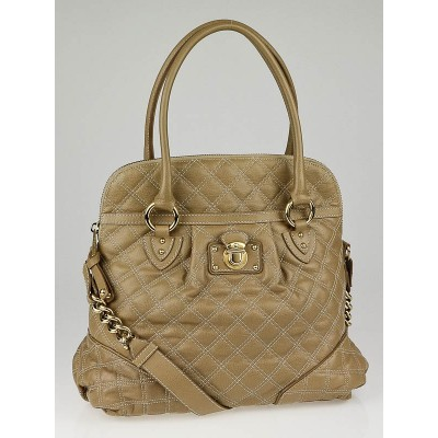 Marc Jacobs Stone Quilted Calfskin Leather Margot Satchel Bag