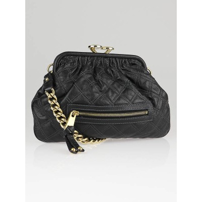 Marc Jacobs Black Quilted Leather Little Stam Bag