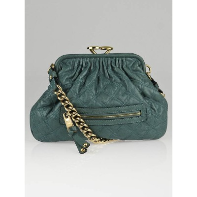 Marc Jacobs Topaz Quilted Leather Little Stam Bag
