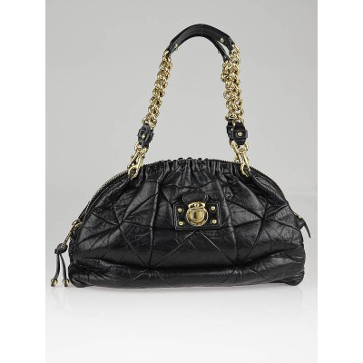Marc Jacobs Black Quilted Leather Capra Satchel Bag