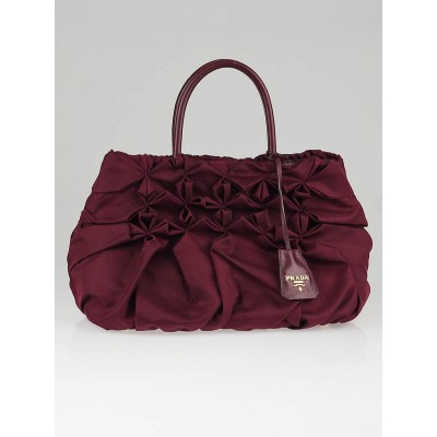 Prada Barolo Tessuto Nylon Pleated Tote Bag BN1701