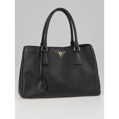 Prada Black Saffiano Leather Lux Small Tote Bag BN1874