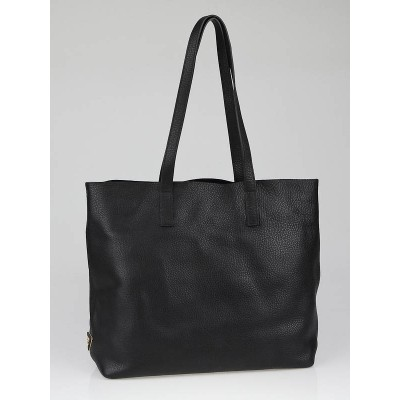 Prada Black Daino Leather Unlined Shopper Tote Bag