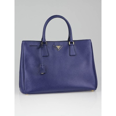 Prada Bluette Saffiano Lux Leather Tote Bag BN1844