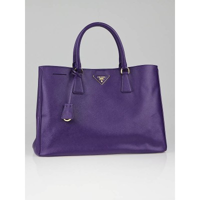 Prada Viola Saffiano Lux Leather Tote Bag BN1844