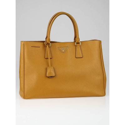 Prada Ocra Saffiano Lux Leather Tote Bag BN1844