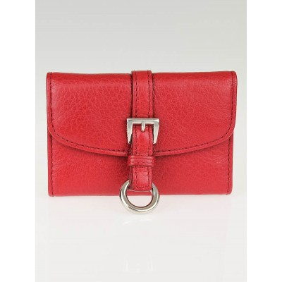 Prada Rosso Vitello Daino Leather 6 Key Holder 1M0222