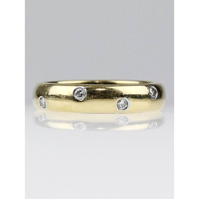 Tiffany & Co. Platinum and 18K Gold with Diamonds Etoile Band Ring Size 6.5