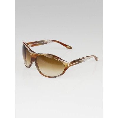 Tom Ford Brown/White Gradient Tint Liya Sunglasses- TF16