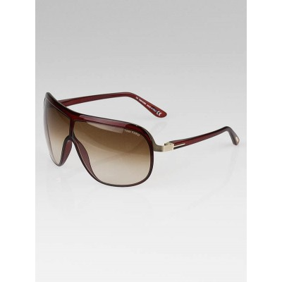 Tom Ford Red Frame Gradient Tint Andre Sunglasses-TF69