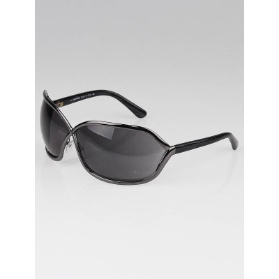 Tom Ford Black and Silver Frame Ava Sunglasses-TF115