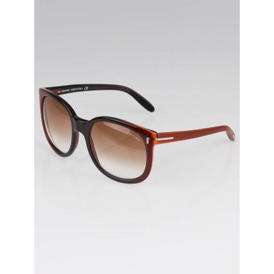 Tom Ford Orange/Black Ombre Frame Lauren Sunglasses - TF30
