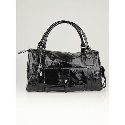 Tod's Black Patent Leather New Besonville Media Bag