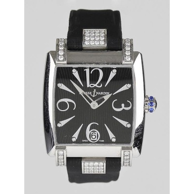 Ulysse Nardin Diamond and Black Satin Caprice Ladies Automatic Watch 133-91/06-02
