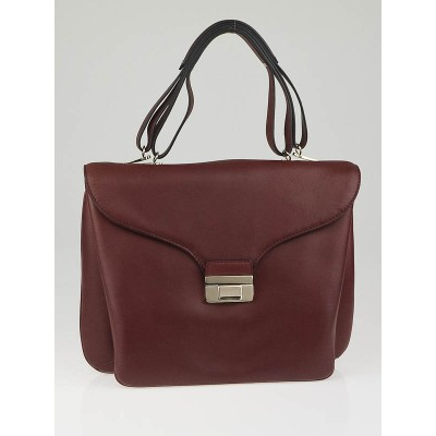 Valentino Brown Leather One-of-a-Kind Large Satchel Bag