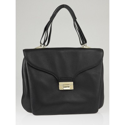 Valentino Black Leather One-of-a-Kind Large Satchel Bag
