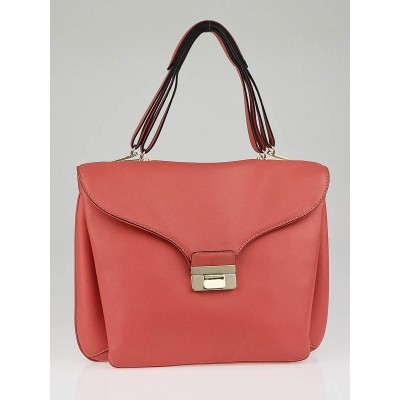 Valentino Pink Leather One-of-a-Kind Large Satchel Bag