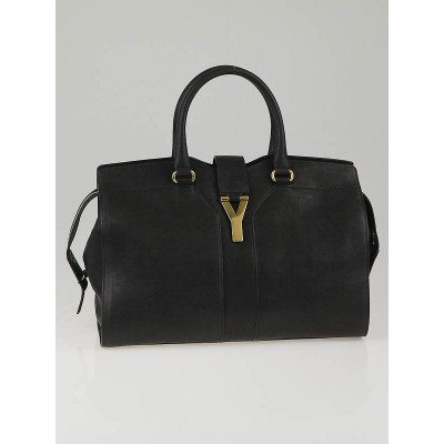 Yves Saint Laurent Black Leather Cabas Chyc Medium Shoulder Bag