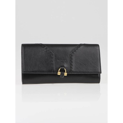 Yves Saint Laurent Black Leather Sac Muse Clutch Bag
