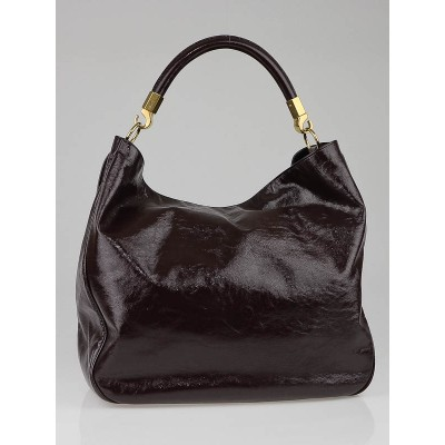 Yves Saint Laurent Eggplant Patent Leather Roady Bag
