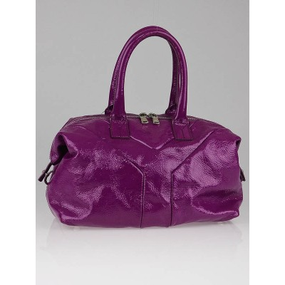 Yves Saint Laurent Pink Patent Leather Small Easy Y Zip Bag