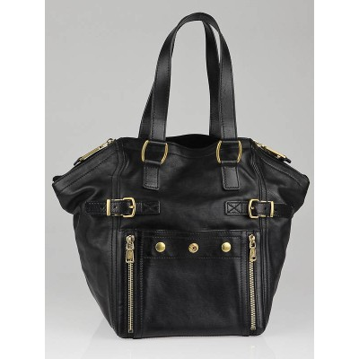 Yves Saint Laurent Black Leather Small Downtown Bag