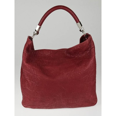 Yves Saint Laurent Red Pebbled Leather Roady Bag