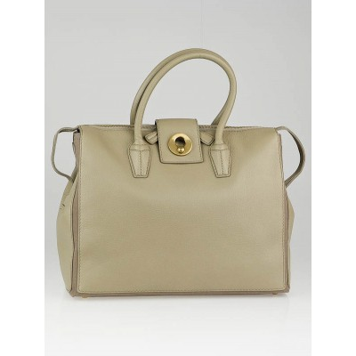 Yves Saint Laurent Beige Leather Muse Two Cabas Tote Bag