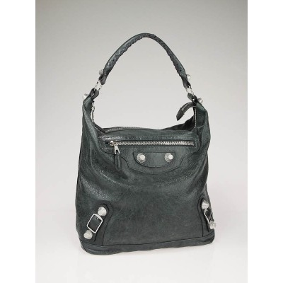 Balenciaga Anthracite Lambskin Leather Giant Day Bag