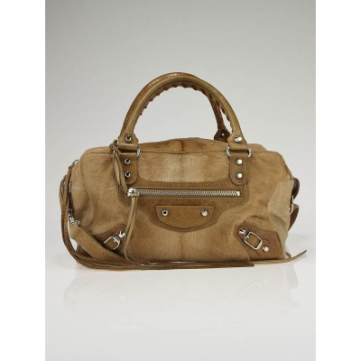 Balenciaga Natural Camel Pony Hair Box Bag
