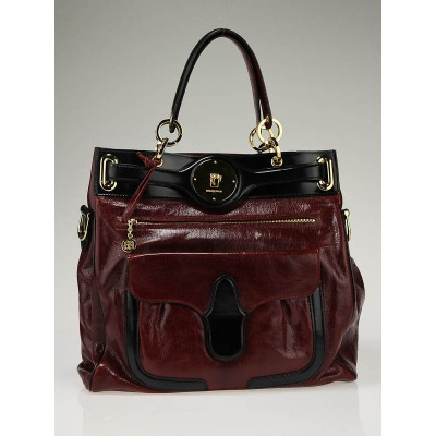 Balenciaga Burgundy Leather Moon Bag