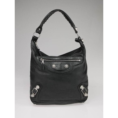 Balenciaga Black Chevre Leather Giant Hardware GSH Day Bag