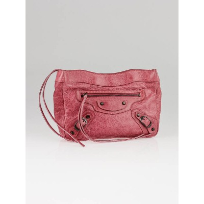 Balenciaga Framboise Lambskin Leather Trousse Maquillage Clutch Bag