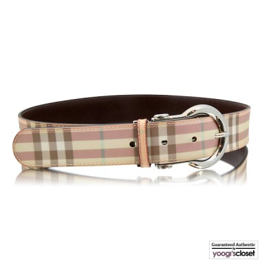 Burberry Pink Nova Check Belt