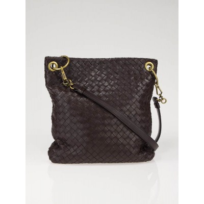 Bottega Veneta Brown Woven Leather Crossbody Bag