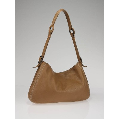 Bottega Veneta Camel Deerskin Leather Cervo Shoulder Bag