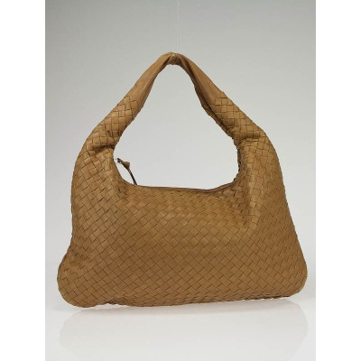 Bottega Veneta Walnut Woven Leather Medium Hobo Bag